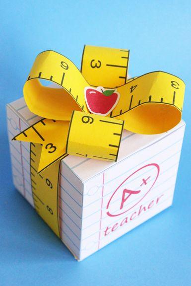 FREE printable Teacher Gift Box More