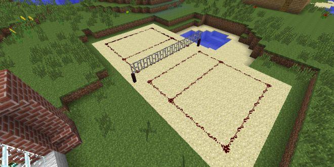Volleyball court minecraft building inc minecraft for Minecraft exterior design ideas