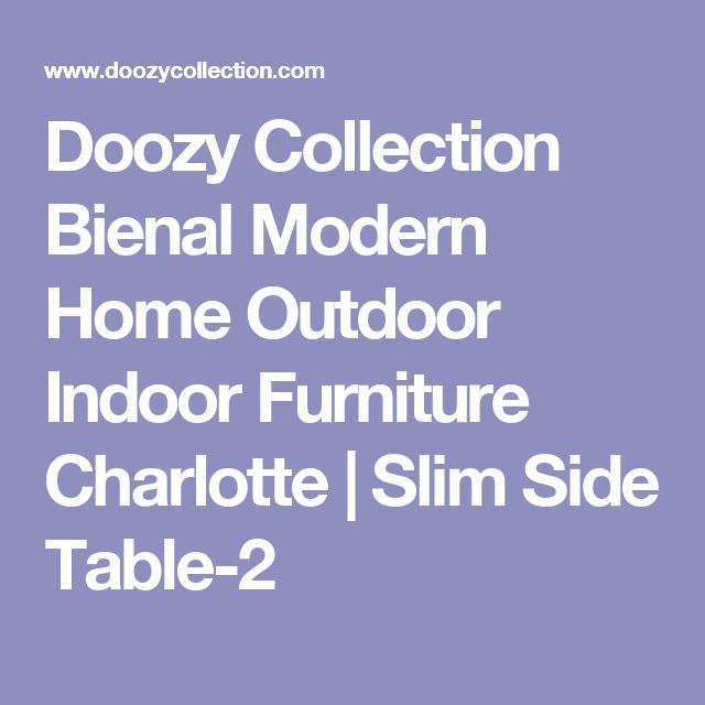 Doozy Collection Bienal Modern Home Outdoor Indoor Furniture Charlotte | Slim Side Table-2