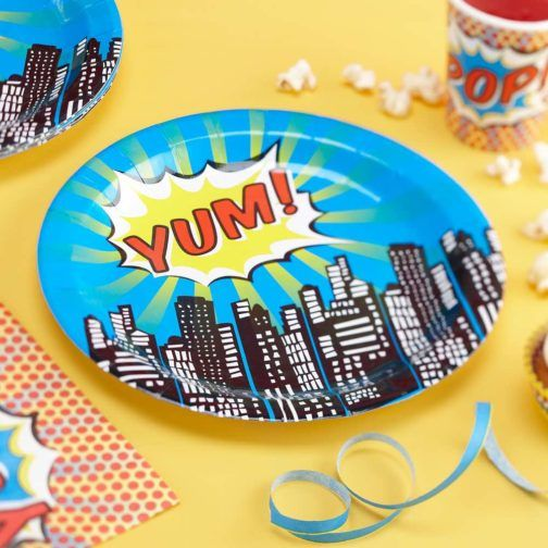 Superhéroe » Mister & Miss Party #PaperPlate #ComicPlate #FunParty #ComicParty #Party