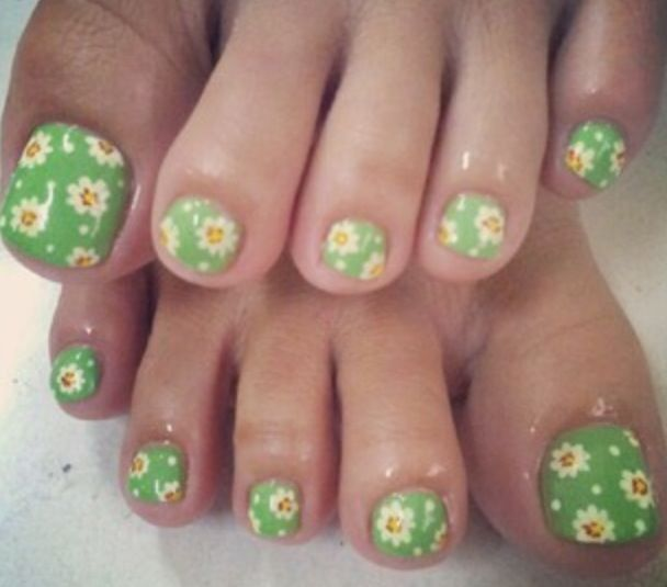 17 Best Images About Floral And Flower Nail Designs On