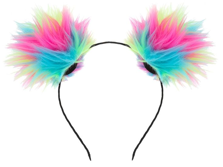 VOGUEKNOCK Ear Headband Rainbow Fluffy Ball Hair Loop Costume Pompom Ball Rabbit Ear Headband Fur Hair Jewelry -- Learn more by visiting the image link. #hairdesign