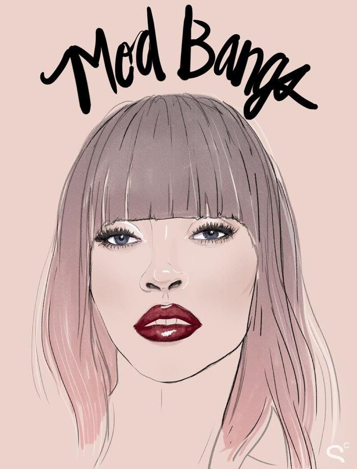 Bang Hairstyles: How the Coolest Girls Wear Bangs - Mod bangs. Thick, bluntly cut (but often rounded at the edges) and super sleek.
