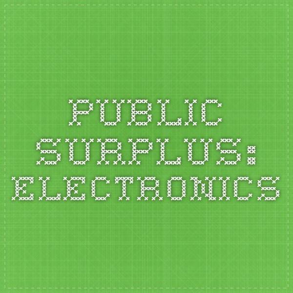 Public Surplus: Electronics