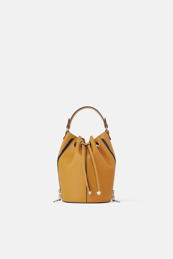 7d9533ff4d7f ZARA - - - ZIPPERED BUCKET BAG
