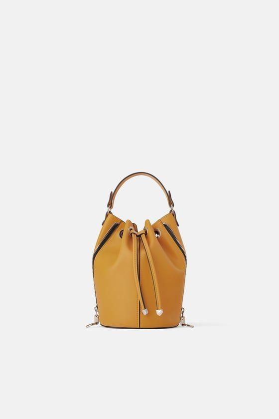 82a0b06b55 ZARA - - - ZIPPERED BUCKET BAG