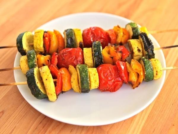 Lemon Pesto Vegetable Skewers | Vegetables - not just a side dish ...