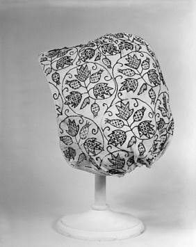 Coif Date: last quarter 16th century Culture: English Medium: Silk on linen