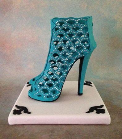High Heel Boot Shoe Former from Sugar Delites. Finished shoe by Iris Rezoagli. Beautiful!