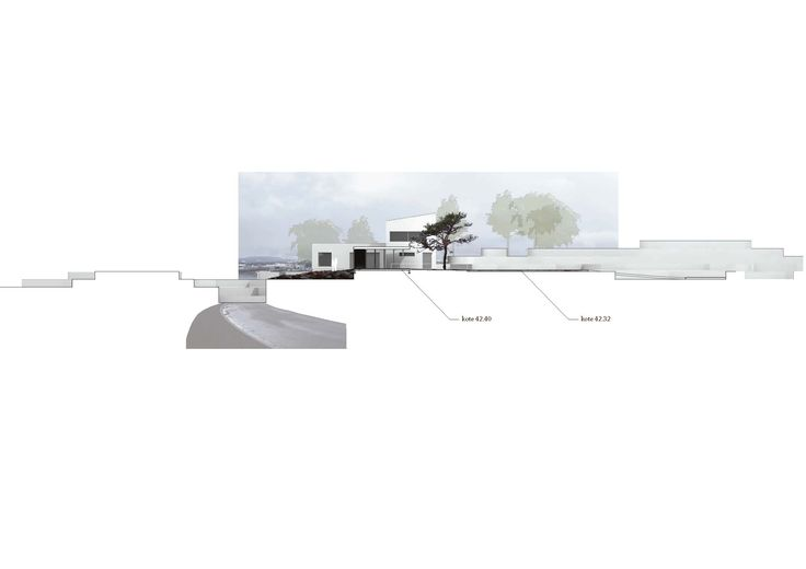 Diagram rendering + Section of height through volume model // Arkitektkontoret Brekke Helgeland Brekke