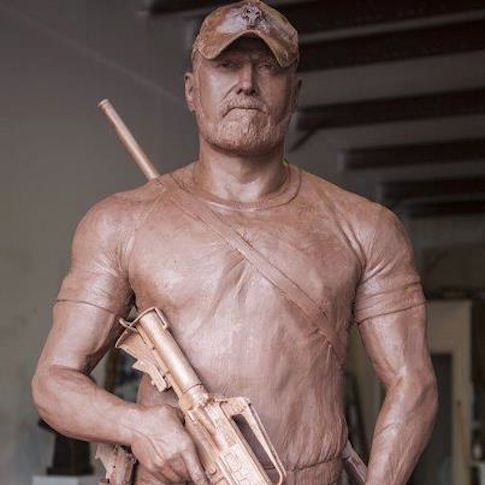 """America's Dealiest Sniper Immortalized -- A statue honoring Chris Kyle, the deadliest sniper in American military history, has been created for his widow. ... Kyle's 160 confirmed kills — unconfirmed kills could push that figure past 250 — are the most in U.S. military history. He earned two Silver Stars and five Bronze Stars with """"V"""" devices, among other decorations, according to Navy personnel records. [...] [03-18-13] - ***GOD BLESS YOU CHRIS KYLE.. MAY YOU REST IN PEACE...BEAUTIFUL"""