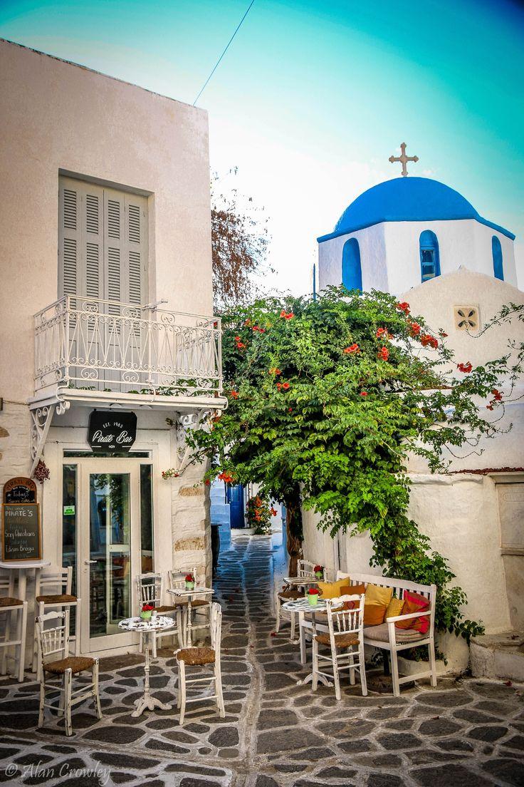 Street Cafe in Paros, Greece
