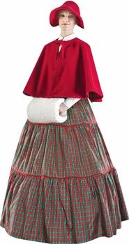 Buy Plus Size Charles Dickens Christmas Carol Checkered Dress for $319.99