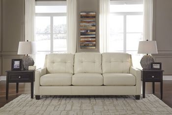 Harley Genuine Leather Sofa ONLY $1399 TAX INCLUDED & FREE LOCAL DELIVERY  https://www.palluccifurniture.ca/harley-genuine-leather-sofa-cream/ #LeatherSofawhite