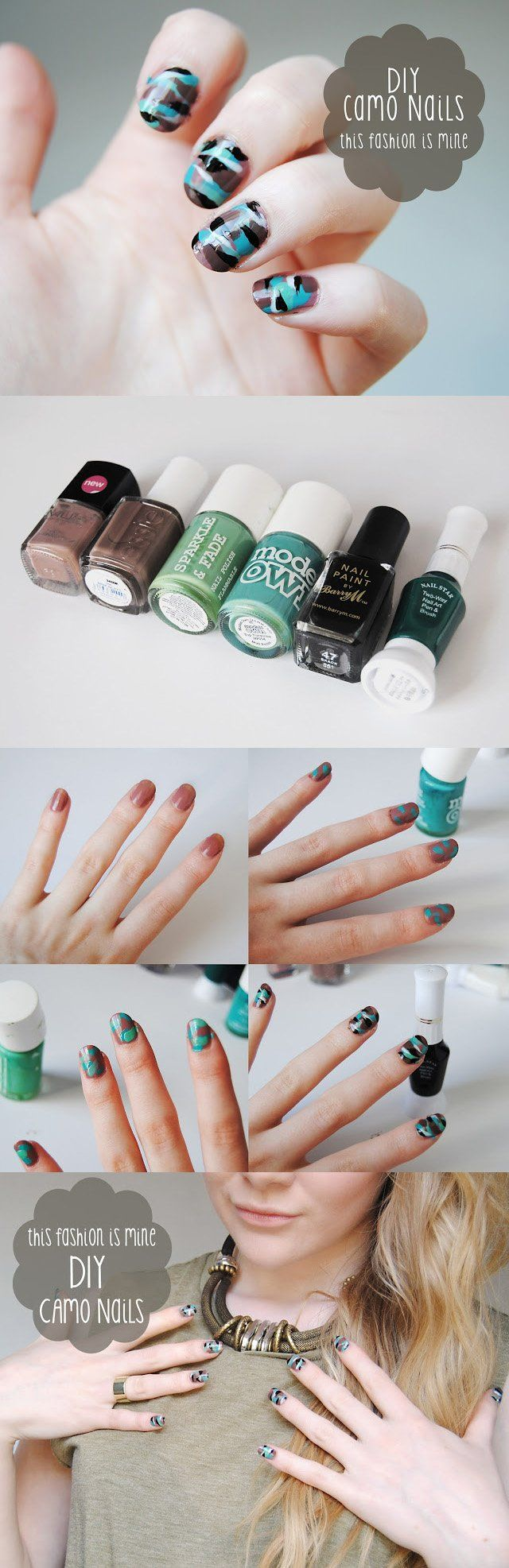 DIY Camo Nails