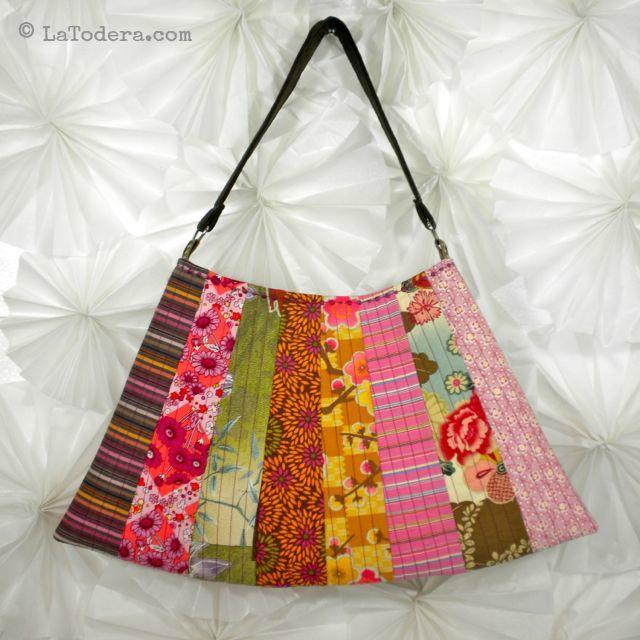 Asian Fan Purse Pattern Pattern by La Todera. DIY fabric purses, fabric flowers, and other fabric manipulation patterns for sale at www.latodera.com.