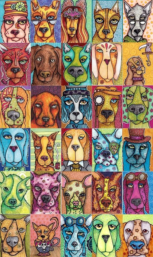 dog art projects - Google Search