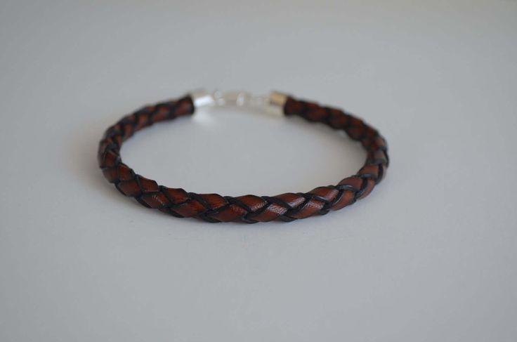 bracelet de cuir tressé brun by Atelierdekatou on Etsy