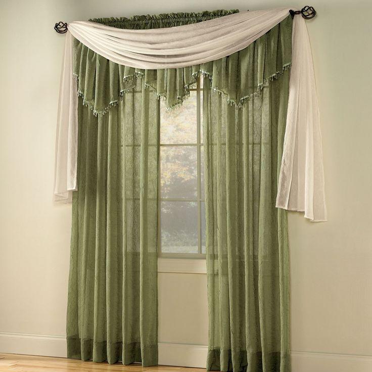 immagine dettaglio come appendere un disegno sciarpa mantovana in colore verde per il tradizionale design a casa