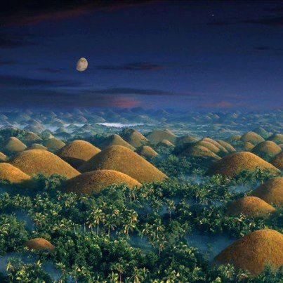 VISIT DEC-FEBRUARY Chocolate Hills, Bohol near to Cebu, Philipines.                                                                                                                                                                                 More