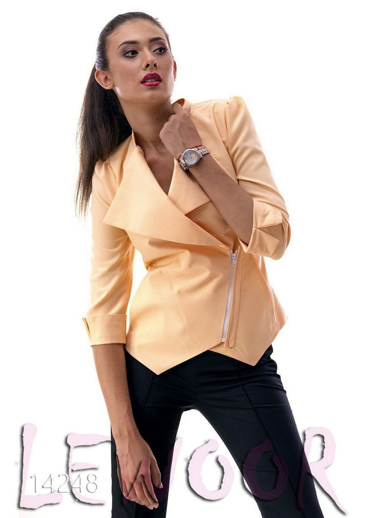 """Пиджак с классическим воротником и застёжка """"косуха"""" - купить оптом и в розницу, интернет-магазин женской одежды lewoor.com"""