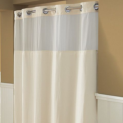 Hookless® Waffle 71-Inch x 74-Inch Fabric Shower Curtain in Cream