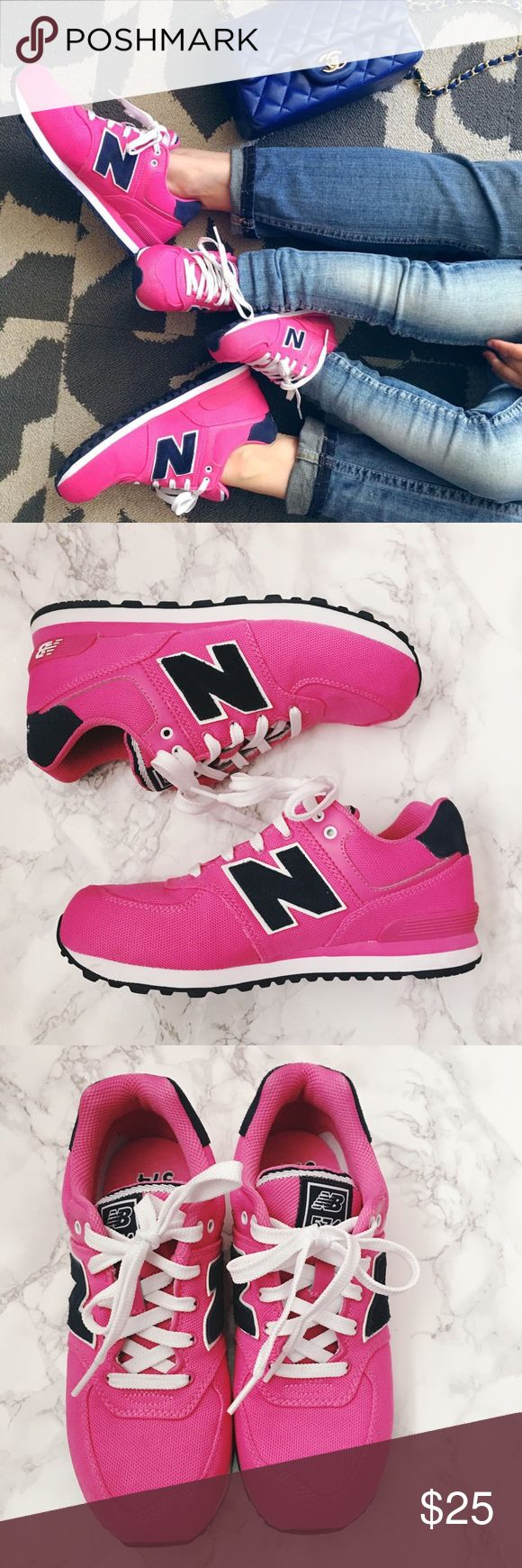 New Balance 574 Sneakers Kid's size 4 but equivalent to Women's size 5.5-6 Only worn twice, still looks brand new New Balance Shoes Sneakers