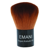 Emani V8 Kabuki Brush. Application: Swirl brush into product then tap off excess. Apply product in a circular motion to desired area. Recommended Skin Types: The Emani Vegan Brushes are recommended for all skin types. The gentle bristles provide perfect concealment for problematic skin and won't irritate even the most sensitive skin types.