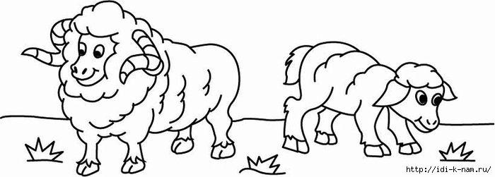 plantillas ovejas, plantillas obvechek, plantillas de dibujo ovejas, plantillas de dibujo ovejas.  Artesanías Hugo Puig, colorear para niños, libros para colorear para niños, colorear, colorear cordero cordero,