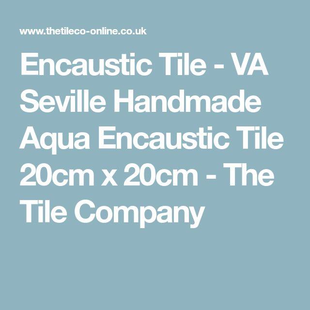 Encaustic Tile - VA Seville Handmade Aqua Encaustic Tile 20cm x 20cm - The Tile Company