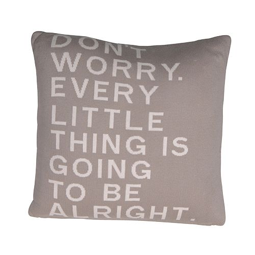 Don't worry cream shabby chic cushion