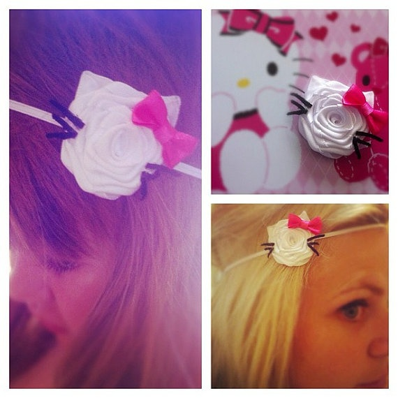 Hello Kitty Headband by CocoChicCouture on Etsy, $16.00. (Brennens birthday party inspired!)