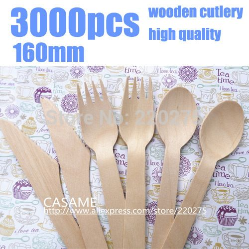 We love it and we know you also love it as well 3000pcs disposable cutlery  Wooden Cutlery Set Picnic Cutlery Sets Natural party lovely Wood Dessert Table Forks spoon wood just only $179.99 with free shipping worldwide  #dinnerware Plese click on picture to see our special price for you