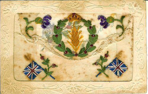 WW1 Embroidered Postcard