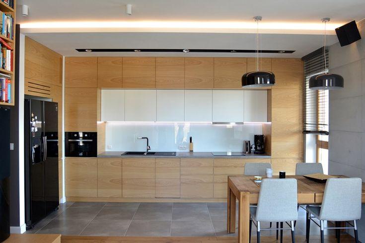 Styl skandynawski w kuchni połączonej z salonem - Architektura, wnętrza, technologia, design - HomeSquare