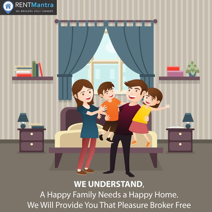 WE UNDERSTAND, A Happy Family Needs a Happy Home. We Provide You a Perfect House On Rent Broker Free. #HappyFamily #HappyHome #PerfectHouse #HouseforRent #FlatforRent #OfficeforRent #BrokerFree #RentMantra #Noida