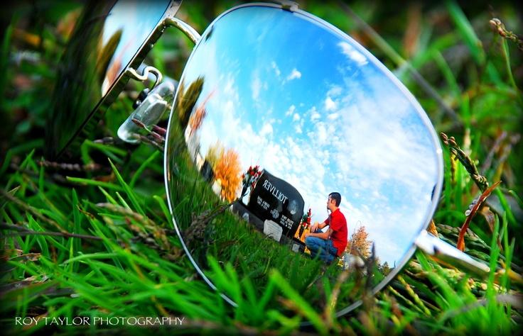Photography, Reflection senior portrait idea