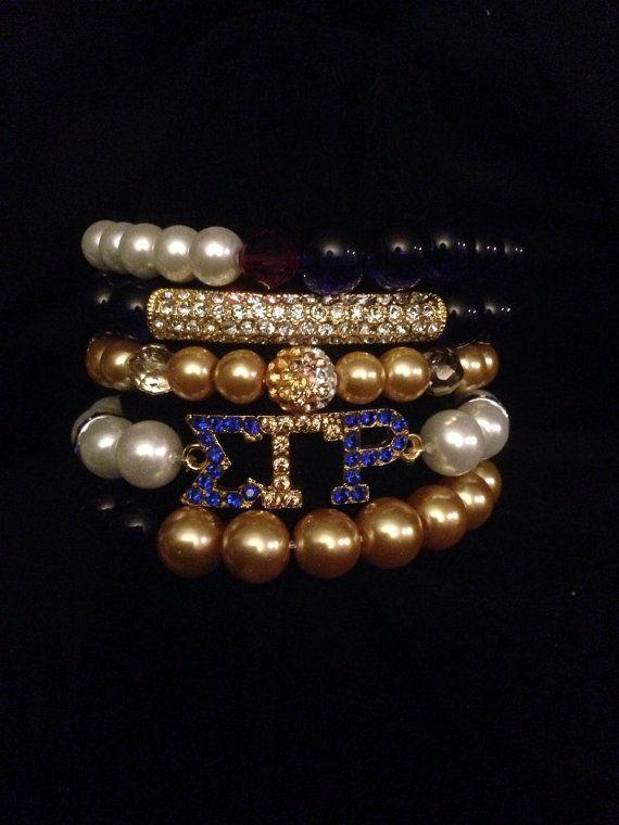 Sigma Gamma Rho bracelet set remix by CrisCustomCreations on Etsy