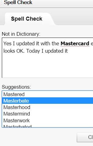 great spelling corrector eh?