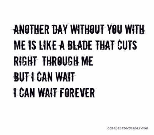 wait for love lyrics: