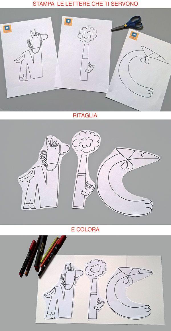 istruzioni per utilizzare alfabeto