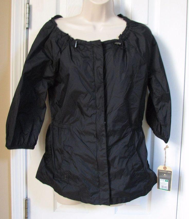 Converse One Star Black Ebony Jacket Nylon Women M NEW NWT Short Sleeve Zip Snap #Converse #BaseballJacket