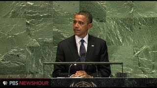 Watch President Obama Address the U.N. General Assembly, via YouTube.
