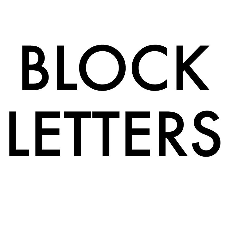 Drawing Block Letters is So Easy, You May Never Buy