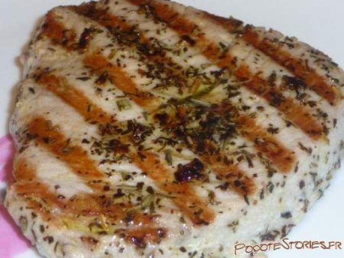 Trop bon !! - Recette Plat : Steaks de thon rouge marine (au barbecue) par Popotestories