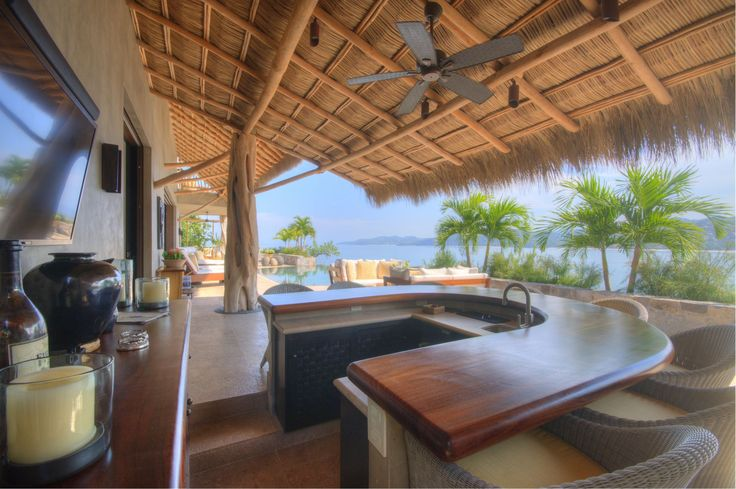 """Outdoor living is taken to a its highest level at Casa la Perla Escondida in Punta Sayulita.  With at least 322 sunny days a year, we say """"Why not?"""""""