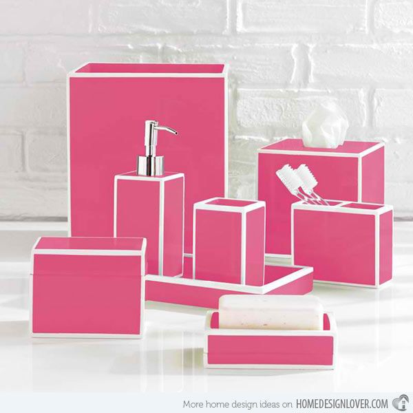 Best Pink Bathroom Accessories Ideas On Pinterest Pink - Light pink bathroom rugs for bathroom decorating ideas