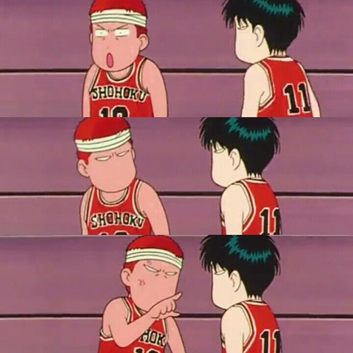 Sakuragi and Rukawa always have a funny problem when game on #slamdunk #anime #japan #chibi #basket #manga