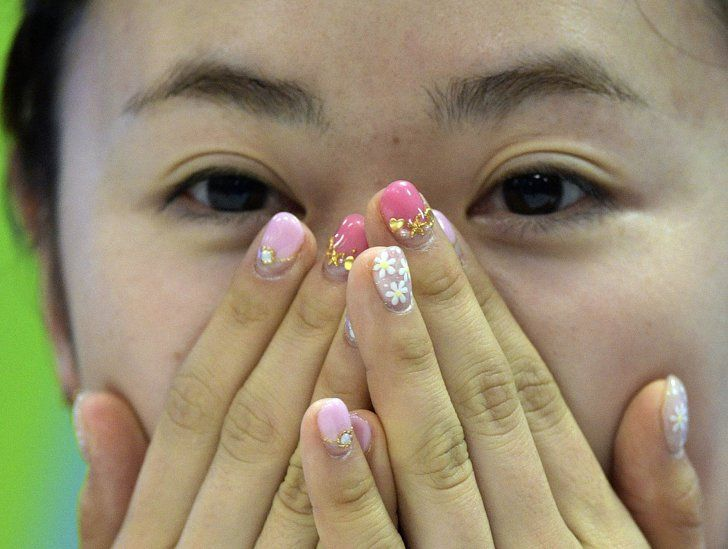 Pin for Later: These Nail Art Ideas Are as Fierce as the Olympic Athletes Wearing Them Ai Fukuhara, Women's Table Tennis, Japan
