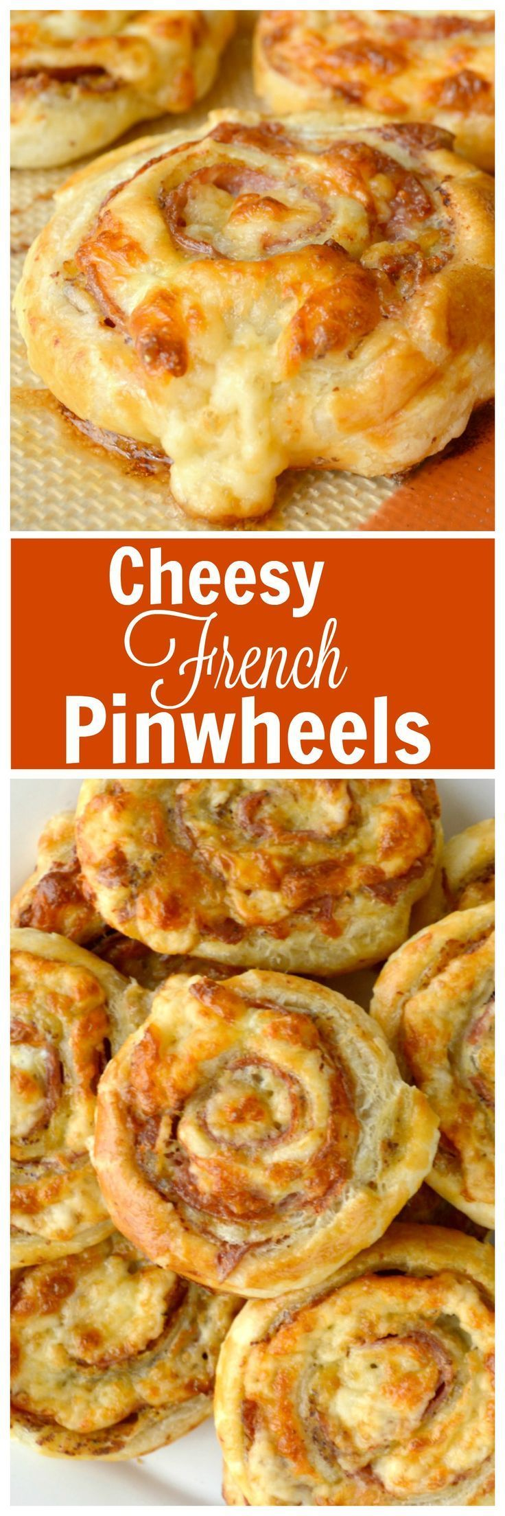 Cheesy French Pinwheels. A super easy appetizer that starts with store bought…